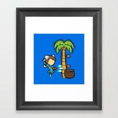 Part Time Job - Coconut Farm Framed Art Print