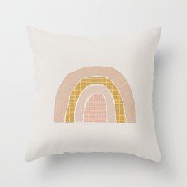 Modern Rainbow Throw Pillow