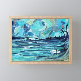 Surf Check Framed Mini Art Print