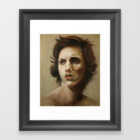 study of an angel Framed Art Print