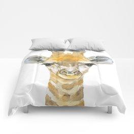 Baby Giraffe Watercolor Comforters