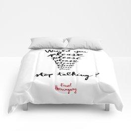 Please-white Comforters