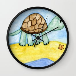 Ted the Turtle Wall Clock