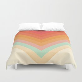 Rainbow Chevrons Duvet Cover