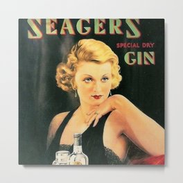 Seagers Special Dry Gin Alcoholic Cocktails Vintage Advertisement Poster Metal Print
