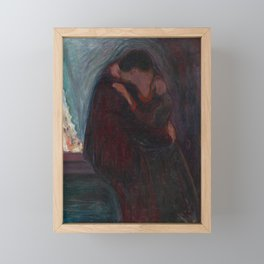 The Kiss - Edvard Munch Framed Mini Art Print