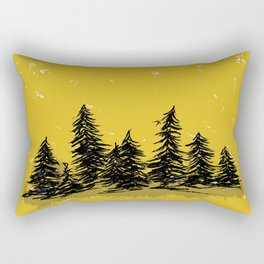 Golden Trees in the Pacific Northwest- PNW Rectangular Pillow