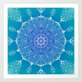 Feather | Leaf Mandala Art Print