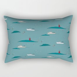 Lobstering in the Harbor Rectangular Pillow