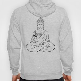 Sitting Buddha is blessing on blissful meditation Hoody