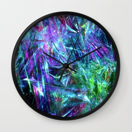 Abstract Prismatic Colors Wall Clock