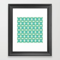 Pattern: Blue Strawberries Framed Art Print