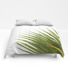 Tropical Palm Green Plant Leaf Minimalist Modern Photo Comforters