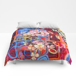 Hydrangea Butterfly Abstract Comforters