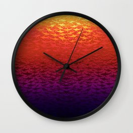 Sharks At Sunset Wall Clock