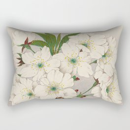 Cascade Fragrance Cherry Blossoms Rectangular Pillow