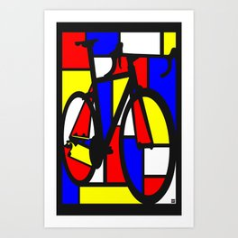 Mondrianesque road bike Art Print