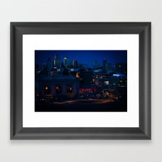 Blue Winter Lights Framed Art Print