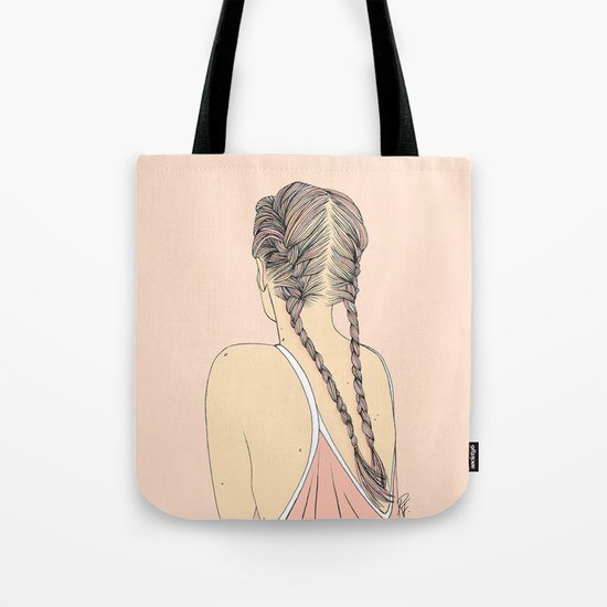 Pretty In Pink Pigtails Tote Bag