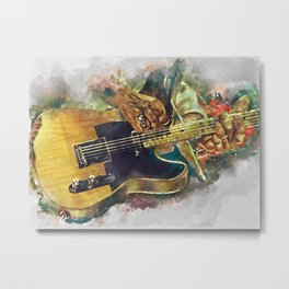 Keith Richards's electric guitar Metal Print