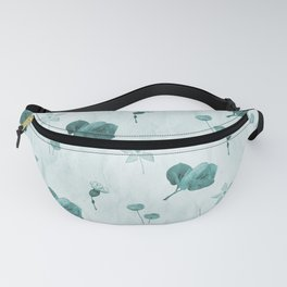 Turquoise flower pattern Fanny Pack