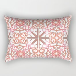Gender Equality Tiled- Peach Rectangular Pillow