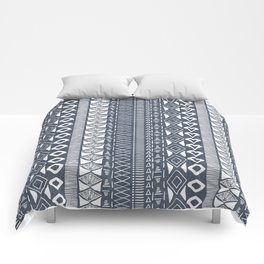 Adobe in Navy Blue and White Comforters