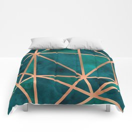 Copper & Emerald Geo Comforters