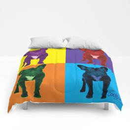 Four French Bulldogs by Crow Creek Coolture Comforters