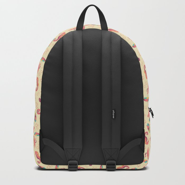 A Chance of Rain - Coral & Cream Backpack