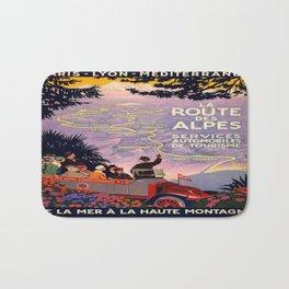 Vintage poster - Route des Alpes, France Bath Mat