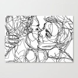 Boys kiss too Canvas Print