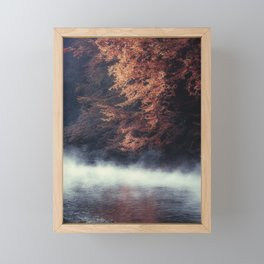 Nature's Mirror - Fall on the River Framed Mini Art Print