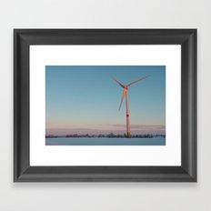 Wind Turbine at dawn Framed Art Print