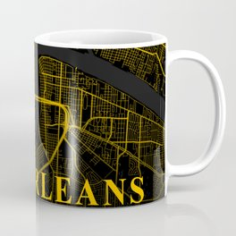New Orleans Louisiana City Map | Gold American City Street Map | United States Cities Maps Coffee Mug