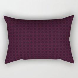 Dark Merlot Wine Circle Pattern Rectangular Pillow