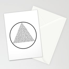 Alcoholics Anonymous Symbol in Slogans Stationery Cards