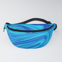 Blue Liquid Fanny Pack