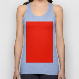 Fluorescent Red|Neon Red Unisex Tank Top