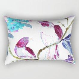 bird tropics floral Rectangular Pillow