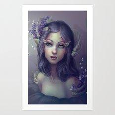Lavender and Shells Art Print