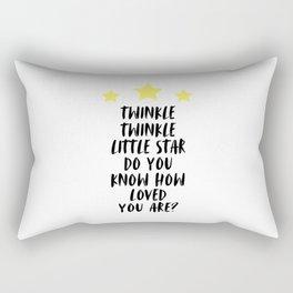 Twinkle Twinkle Little Star, Kids Room Decor, Typography, Baby Nursery, Room Decor Rectangular Pillow