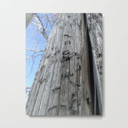 Pole of Posters Past Metal Print