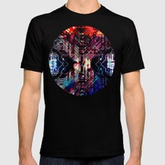 circuit board shadow 2X-LARGE Mens Fitted Tee Black