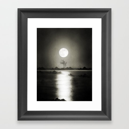 When the moon speaks (part III) Framed Art Print