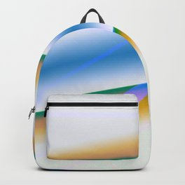 blue brown green texture art Backpack