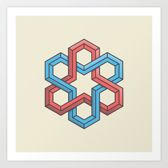 Mathametric Art Print