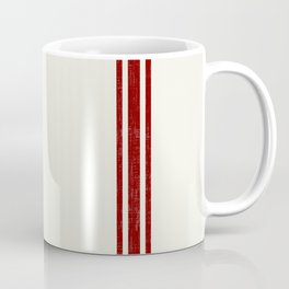 Red on Creme Grainsack wide stripes Coffee Mug
