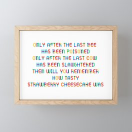 The last Bee Framed Mini Art Print