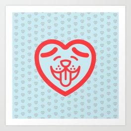 Puppy Love (Red) Art Print